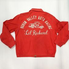 Vintage Dick Lil' Richard Simmons Chain Stitched Race Car Jacket Work Wear