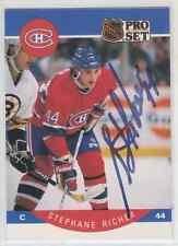 Autographed 90/91 Pro Set Stephane Richer - Canadiens