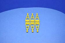 LEGO 6 x Anhänger Kupplung Deichsel mit Kugel gelb | yellow plate w. ball 2508