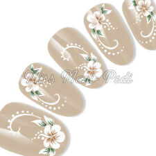 Nail Art Water Decals Transfers Stickers Wraps Flowers & Swirls Flower Dots G029