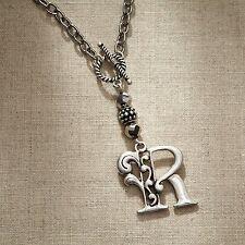 Jim Shore Monogram Necklace, Letter R (4047976)