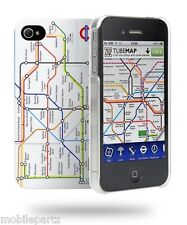 Cygnett White London Underground Map Case & Screen Protector for iPhone 4 / 4S