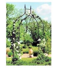 Arch Trellis Black Yard Garden Patio Backyard Path Archway Arbor Wedding Decor