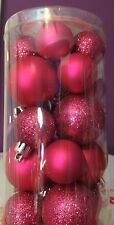 "Christmas Mini-Small ornaments shatterproof pink, 3/4"" 1"", 1 1/2"" package of 20"