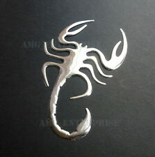 Adhesive Chrome Effect Scorpion Badge Decal for Kia Pro Ceed Sportage Sorento