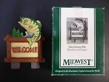 Fish Welcome Door Knocker Top Topper Midwest of Cannon Falls. Rare!