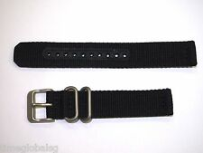 Genuine 18mm Seiko Black Nylon Strap Band Watch Model SNK809 -Strap Model 4K13JZ