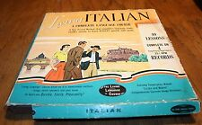33 1/2 Vintage Living Italian Language Course 4 records