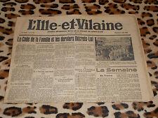 L'Ille et Vilaine, journal hebdomadaire - n° 1435, 06/08/1939