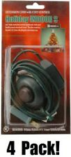 (4) ea 09493 9' ft Green Christmas Tree Foot Tap Extension Cords