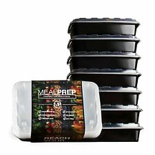 Meal Prep Containers Stackable Plastic Microwavable Dishwasher 28 Oz (Set of 7)