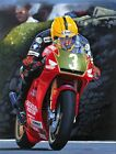 Joey Dunlop Honda 250 Isle of Man TT Motorcycle Racing Motorbike Art Print