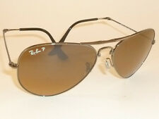 New RAY BAN  FOLDING Aviator Gunmetal Frame RB 3479 004/M2 Polarized Lenses 55mm