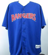 Vtg Dynasty Authentic MLB Texas Rangers Baseball Jersey Adult XL Blue Polyester