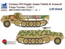 Bronco 1/35 35214 German sWS Supply Ammo Vehicle & Armored Cargo Version