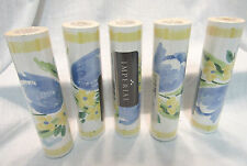 "IMPERIAL WALLPAPER BORDER, BLUE AND YELLOW PATTERN, 5 ROLLS 7"" WIDE, NIP"