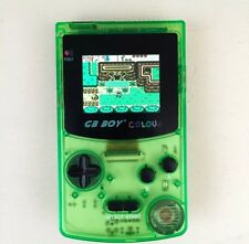 GB Boy Colour - Backlit Nintendo Game Boy Color Clone Console NEW Crystal Green