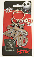 Disney THE NIGHTMARE BEFORE CHRISTMAS ZERO DOG Keychain Key Ring Chain METAL NEW