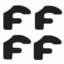 12pc set Forgiato Wheel Center Cap Vinyl Sticker Decal Logo Overlay Gloss Black