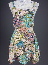 Lucca Couture sz XS Multicolor Floral Print Sleeveless Mini Dress Layer