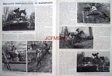"""BADMINGTON Horse Trials"" - 1967 Magazine Article (2-Sided Cutting)"