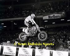 1989 RICK JOHNSON ANAHEIM AMA SUPERCROSS 8 X 10 PHOTO   MOTOCROSS