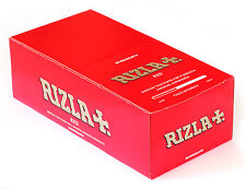 1 box RIZLA Red Regular medium weight Rolling paper - 50 booklets = 2500 papers