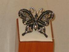 NEW SZ 5.5-6 BUTTERFLY RING W/BEADS & LOVELY CLEAR & AB CRYSTALS r137