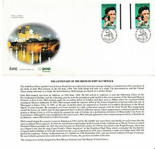 IRELAND, Scott #594 Gutter Pair on Illustrated Unaddressed FDC, Issued 6/6/84