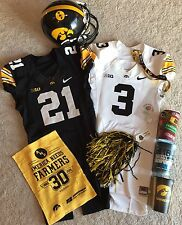 IOWA HAWKEYES AUTHENTIC BLACK OR WHITE GAME USED FOOTBALL JERSEY