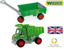 ~ NEW GIANT TRUCK WITH TRAILER TIP-CART LORRY WADER TOY GREEN FOR KIDS GIFT  ~