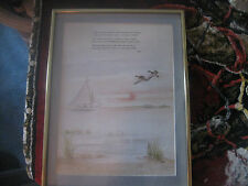 Ltd ed Artist Myra C. McGrath print #218/350 With ducks,sailboat and poem