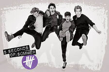 5 SECONDS OF SUMMER MUSIC (LAMINATED) POSTER Jump 5SOS Australia NEW LICENSED