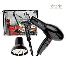 2000W NERO ASCIUGACAPELLI SALON KIT, Master Turbo asciugatrice, diffusore, Head Jog 34,
