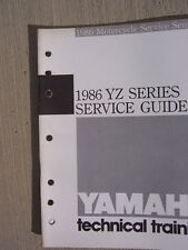 1986 Yamaha Motorcycle YZ Series Service Guide Manual Technical Training Bike L