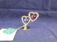 Crystocraft Free Standing Twin Love Hearts with Strass Swarovski Crystals.