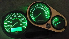 Green Yamaha FZS 600 Fazer LED Dash Kit de conversión de Reloj lightenupgrade