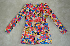 Dolce & Gabbana Multi Colour Floral Womens Blouse Tunic Dress Size Small S UK 8