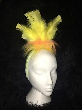BIG BIRD YELLOW Fancy Dress Headress Feather Hairband Costume RETRO TWEETY PIE