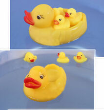 Hot 4Pcs/Set Unisex Bathing Yellow Duck For Baby Washing Squeaky Rubber Toys