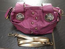 KATHY VAN ZEELAND LADIES PURPLE GOLD HANDBAG BAG