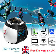 Ultra HD 2448*2448 Sports Waterproof Panoramic Action Cam 360 Degree Wifi Camera
