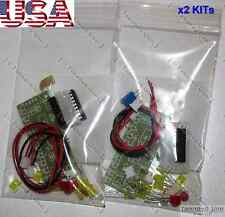x2 DIY KITs Audio Level Meter LM3915 [LED VU Meter, Arduino] FULL Parts - USA
