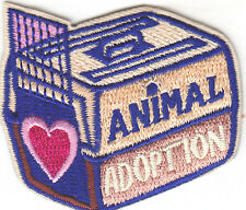 """ANIMAL ADOPTION"" PATCH - DOGS - CATS/Iron On Embroidered Applique/Pets, Animals"