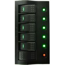 6 GANG WATERPROOF SWITCH PANEL ★WITH LED INDICATOR R&G ROCKER CIRCUIT BREAKER