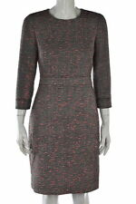 J Crew Womens Petites Black Tweed Sheath Dress Sz 6P Knee Length Career