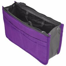 Purple Travel Storage Case Zipper Organizer Hand Bag Makeup Cosmetic Toiletry