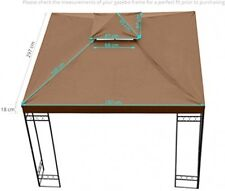 Kenley grc-250b 3 x 3 m 2-Tier Gazebo Pavilion Roof Top Canopy Replacement -