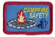 Girl Boy Cub CAMPFIRE SAFETY Fun Patches Crests Badges SCOUT GUIDE camp bon fire