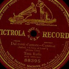 TITTA RUFFO -BARITON- Dai canti d'amore  78rpm  einseitige Schellackplatte G3666